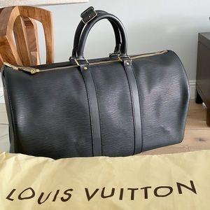 💎✨BRAND NEW✨💎 Louis Vuitton Black Epi Keepall 45